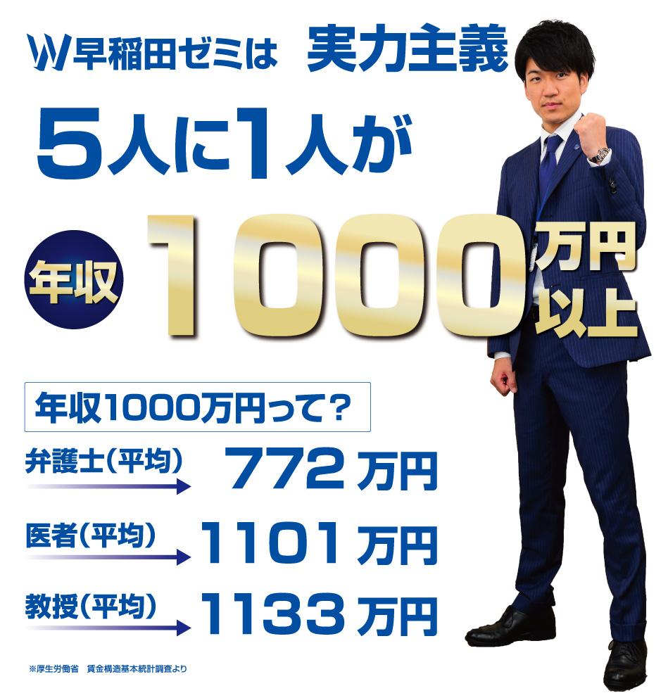 早稲田ゼミは実力主義 入社〇年で年収700万円